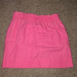 J.Crew hot pink boardwalk skirt size 6